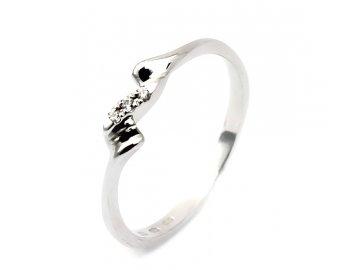 Diamantový prsten bílé zlato 0,015ct Ela