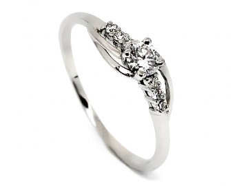 Diamantový prsten 0,34ct
