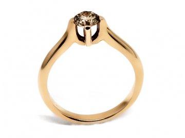 Diamantový prsten z růžového zlata 0,51ct
