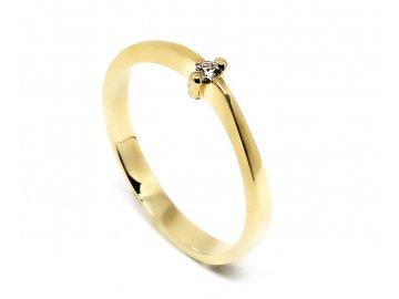 Alo diamantový prsten 0,04 ct