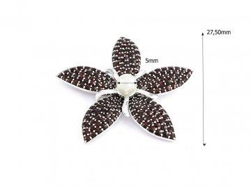 Stříbrné náušnice Český Granát 131272