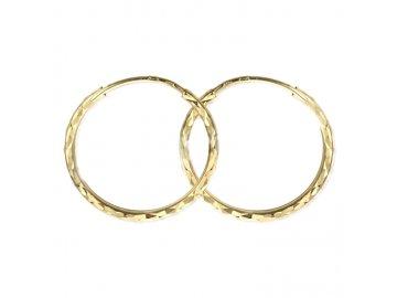 Screenshot 2021 09 21 Zlaté náušnice Kruhy Ø 20 mm, diamantový brus, žluté zlato