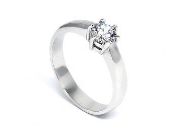 Zlatý prsten se zirkonem zásnubní