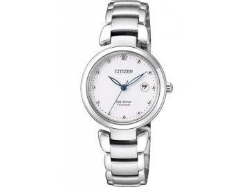 citizen horloge EW2500 88A dames eco drive titanium wit