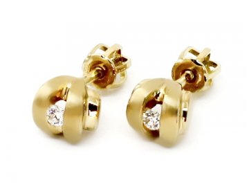 Alo diamantové náušnice 0,08ct