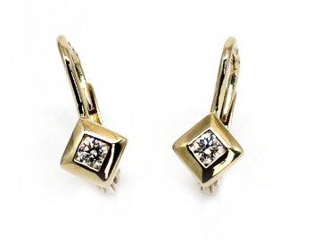 Alo diamantové náušnice kostky 0,16ct