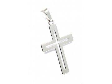 Zlatý kříž z bílého zlata