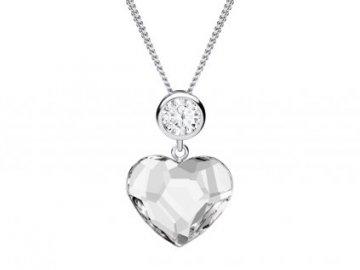 Stříbrný přívěsek Amy , srdce z křišťálu Preciosa 6100 00,