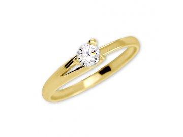 Zlatý prsten se zirkonem Tereza