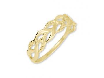 Zlatý prsten pletený Ria