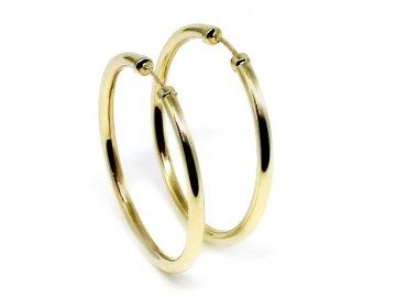 Zlaté kruhy hladké 35mm