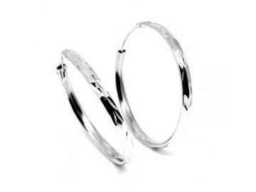 Stříbrné  kruhy 40mm gravírované