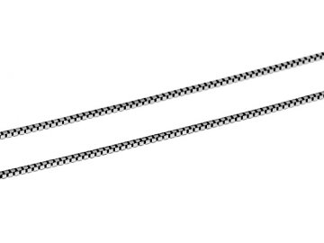 Zlatý řetízek z bílého zlata kostičky Venezia 38-55cm