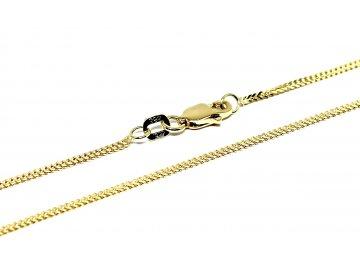 Zlatý řetízek pletený 50-60 cm