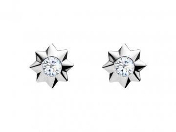3752 1 stribrne nausnice orion s kubickou zirkonii preciosa hvezdicka