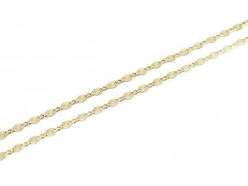 Zlatý řetízek destičkový 42/45cm gravírovaný