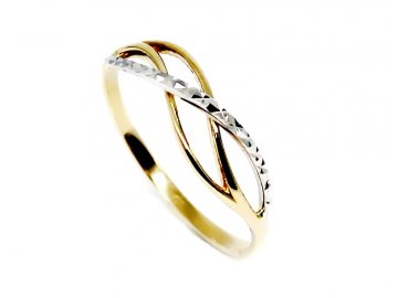 Zlatý prsten pletený Emma