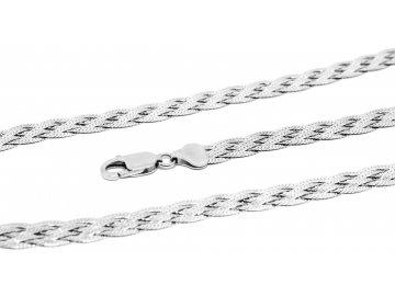 Stříbrný náramek pletený cop 18-19cm