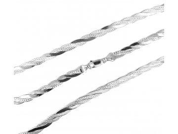 Stříbrný řetízek pletený cop 42/45/50cm