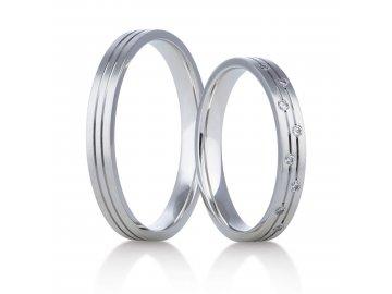 Snubní prsteny bílé zlato 407/01