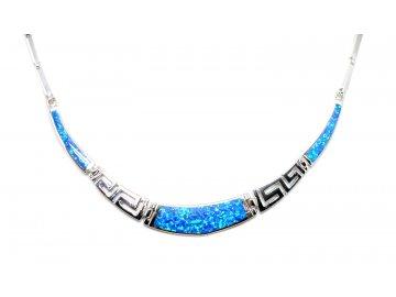 Stříbrný náhrdelník s opálem Athéna 45cm