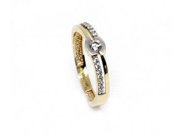 Zlatý prsten se zirkonem Eliška