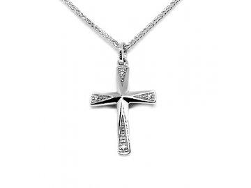 Diamantový přívěsek bílý křížek