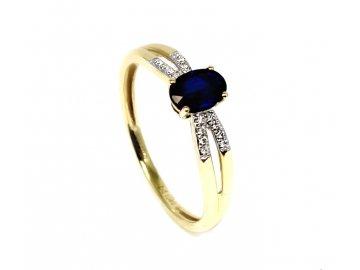 Diamantový prsten se safírem a diamanty Deneb