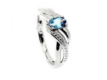 Zlatý prsten s blue topazem Taygeta