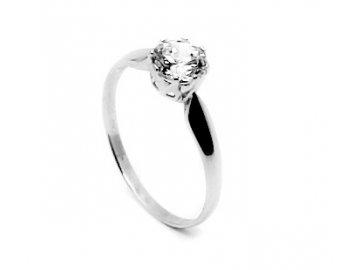 Zlatý prsten z bílého zlata se zirkonem Athena