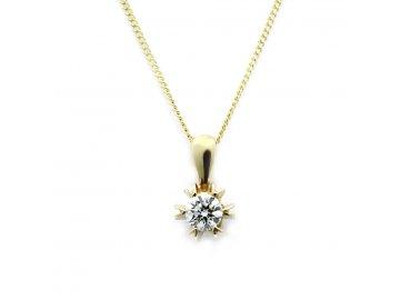 Diamantový přívěsek 0,249ct Aster