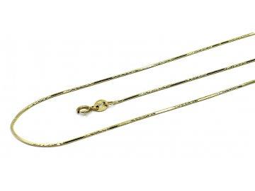 Zlatý luxusní řetízek žíla 42cm