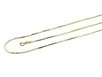 Zlatý luxusní řetízek gravírovaná žíla 42/50cm