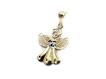 Zlatý přívěsek anděl 24mm