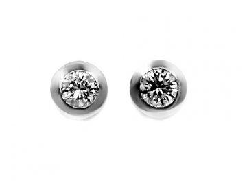 Diamantové náušnice bílé zlato 0,5ct Zaniah