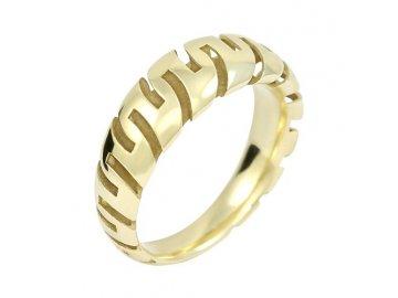 Zlatý prsten celozlatý
