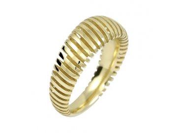 Zlatý prsten celozlatý 3D