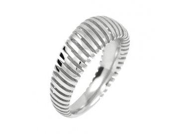 Prsten z bílého zlata 3D