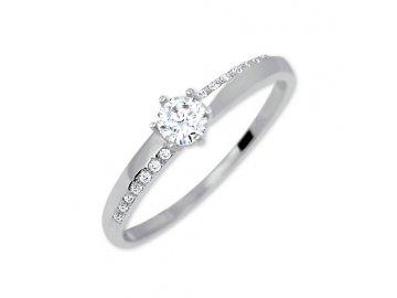 Zlatý prsten bílé zlato se zirkonem Bela