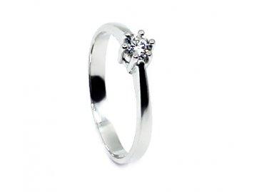 Zlatý prsten se zirkonem Gita