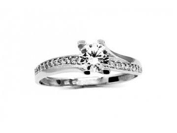 Prsten z bílého zlata se zirkonem Lucie
