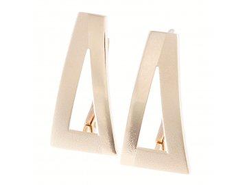 Zlaté náušnice trojúhelníky