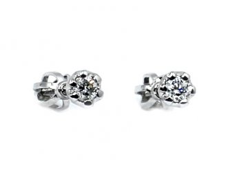 Diamantové náušnice bílé zlato 0,16ct