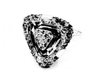 Prsten TROJÚHELNÍK  Swarovski Crystal 92700312
