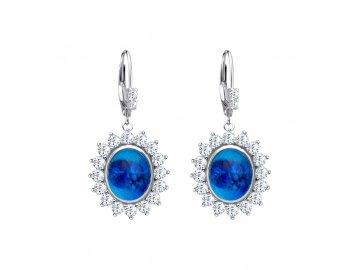 3010 1 stribrne nausnice camellia s ceskym kristalem a kubickou zirkonii preciosa modre