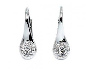 Diamantové náušnice bílé zlato Antares