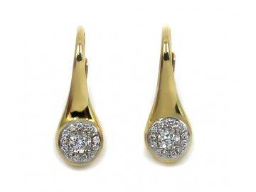 Diamantové náušnice žluté zlato Antares