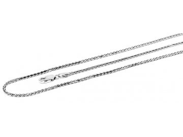 Stříbrný řetízek pletený 42-70 cm
