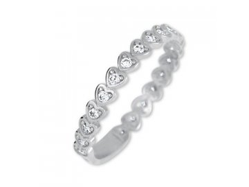 prsten srdce bílé