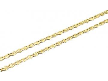 Zlatý řetízek plochý 50cm